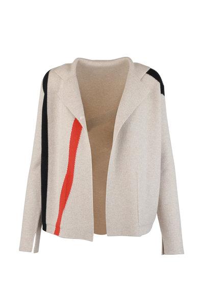 Akris - Tan Cashmere Reversible Knit Jacket