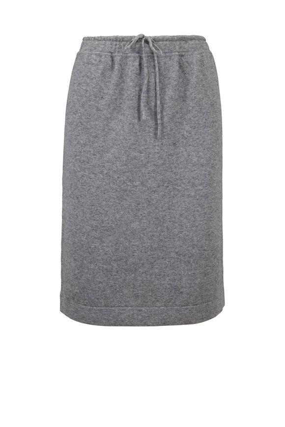 Vince Sterling Wool & Cashmere Knit Drawstring Skirt