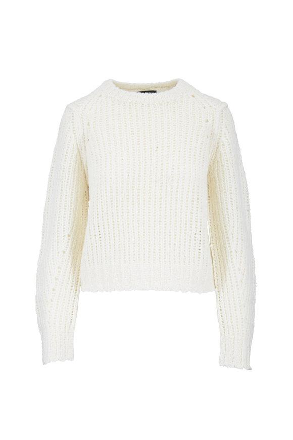 Rag & Bone Arizona Ivory Merino Wool Crewneck Sweater