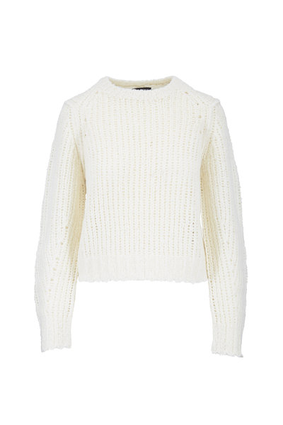 Rag & Bone - Arizona Ivory Merino Wool Crewneck Sweater