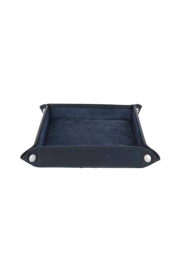 Ettinger Leather Navy Blue Leather Travel Tray