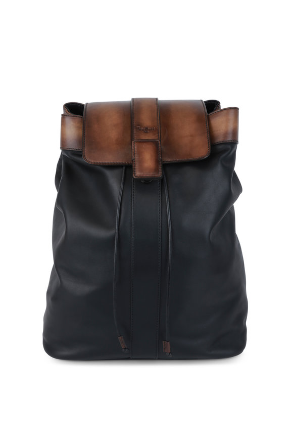 Berluti Horizon Black Leather Backpack