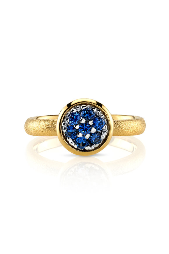 Aaron Henry 18K Yellow Gold Blue Sapphire Ring
