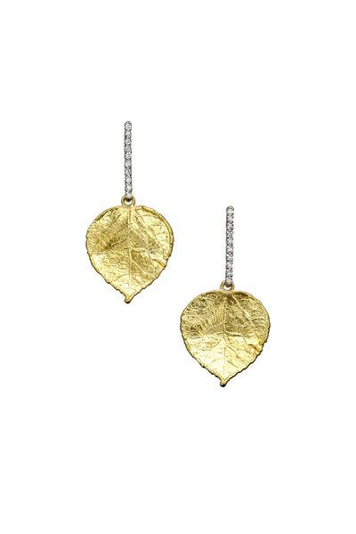 Aaron Henry - 19K Yellow Gold Leaf Earrings