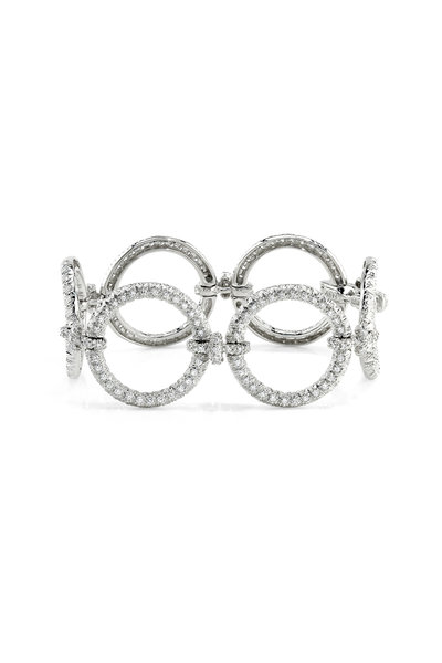 Aaron Henry - 18K White Gold Large Diamond Circles Bracelet