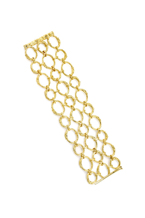 Aaron Henry 19K Yellow Gold Open Branch Link Bracelet
