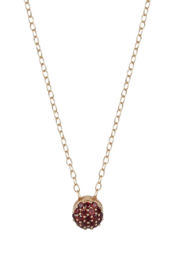 Sandy Leong 18K Yellow Gold January Birthstone Necklace