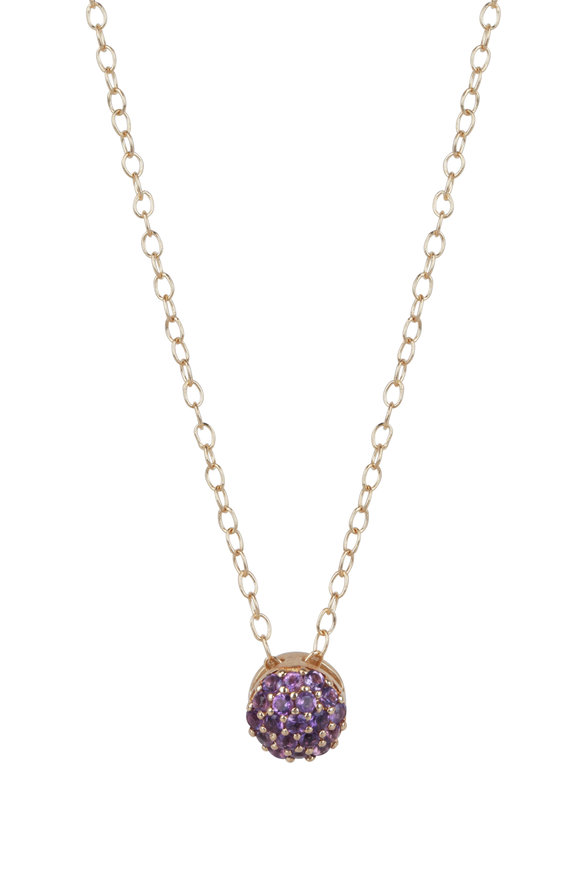 Sandy Leong 18K Yellow Gold February Birthstone Necklace
