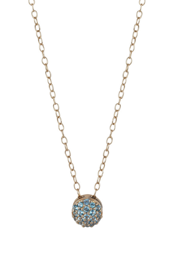 Sandy Leong 18K Yellow Gold March Birthstone Pendant Necklace