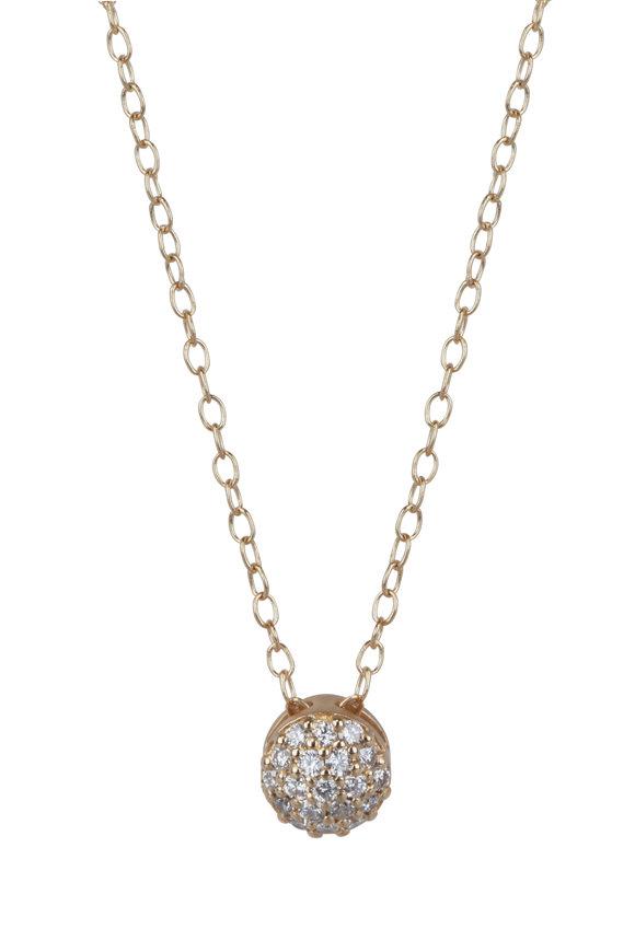 Sandy Leong 18K Yellow Gold April Birthstone Pendant Necklace
