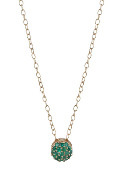 Sandy Leong - 18K Yellow Gold May Birthstone Pendant Necklace