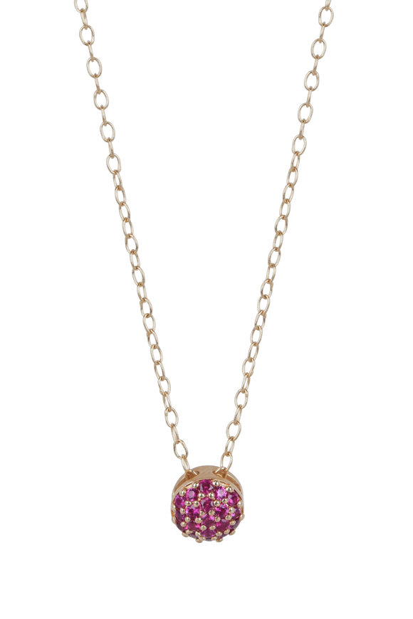 Sandy Leong 18K Yellow Gold July Birthstone Pendant Necklace