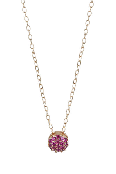 Sandy Leong - 18K Yellow Gold July Birthstone Pendant Necklace