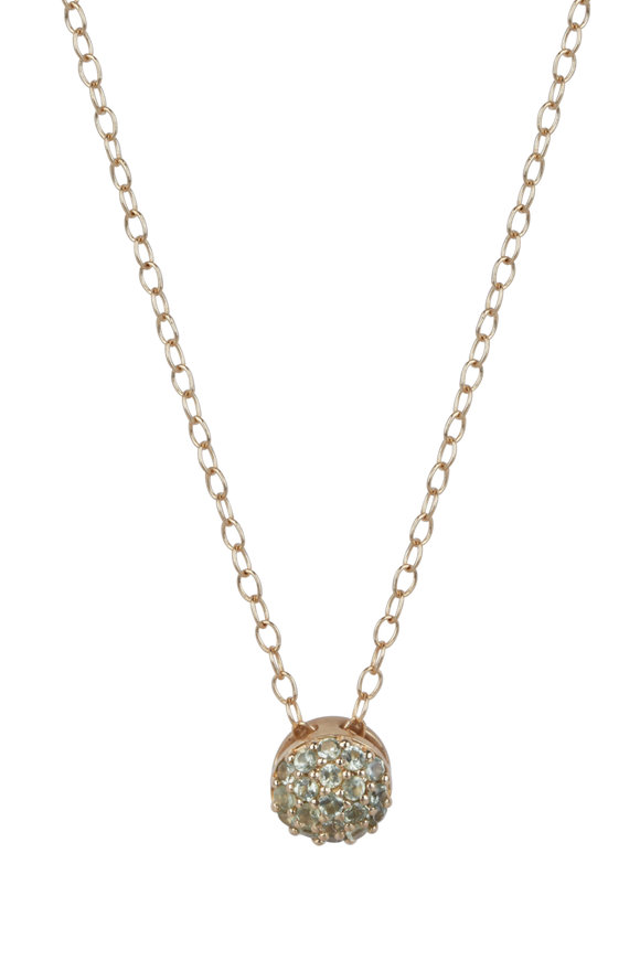 Sandy Leong 18K Yellow Gold August Birthstone Pendant Necklace