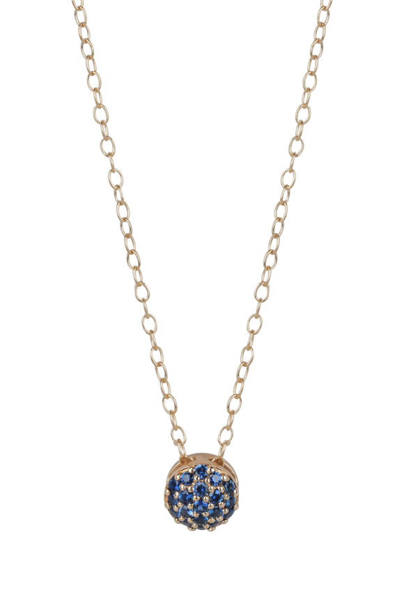 Sandy Leong 18K Yellow Gold September Birthstone Necklace