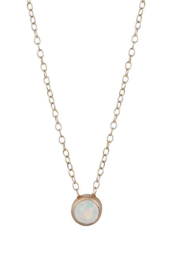 Sandy Leong 18K Yellow Gold October Birthstone Necklace