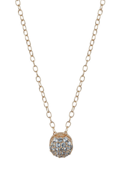 Sandy Leong - 18K Yellow Gold December Birthday Pendant Necklace