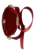 Valentino Garavani - Rockstud Red Grained Leather Mini Crossbody