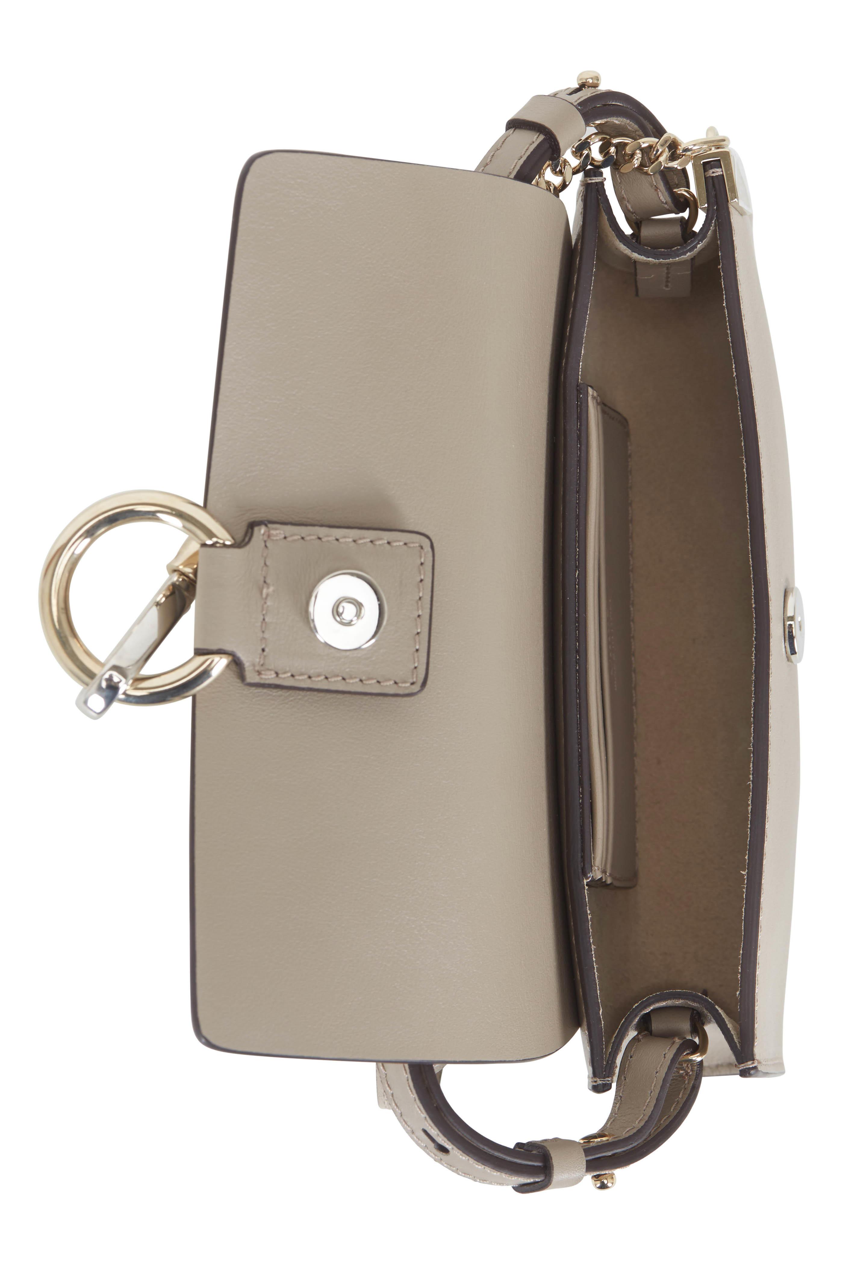 ... Chloé - Faye Nano Gray Leather   Suede Mini Crossbody ... 12dc8d373ad5