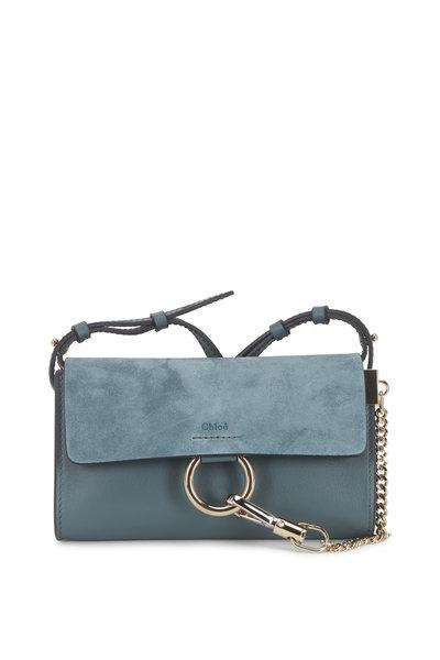 Chloé - Faye Nano Cloud Leather & Suede Mini Crossbody