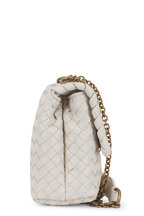 Bottega Veneta - Baby Olimpia Mist Intrecciato Chain Shoulder Bag