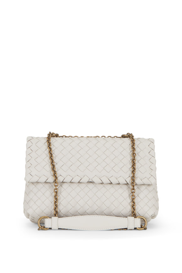 Bottega Veneta Baby Olimpia Mist Intrecciato Chain Shoulder Bag