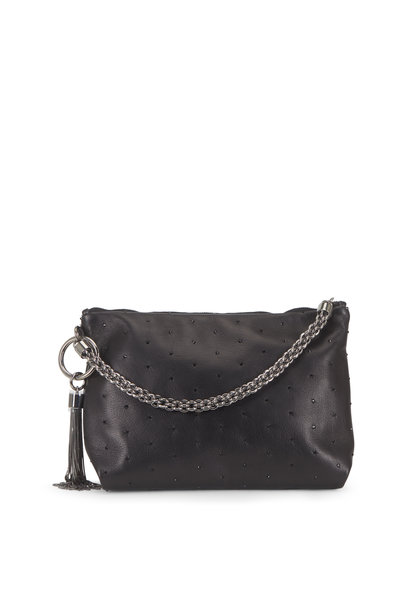 Jimmy Choo - Callie Black Crystal Embellished Evening Bag