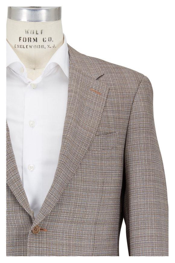 Canali Tan Textured Wool Sportcoat