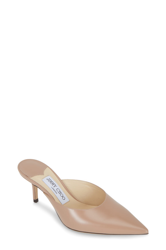 Jimmy Choo Rav Ballet Pink Liquid Leather Mule, 65mm