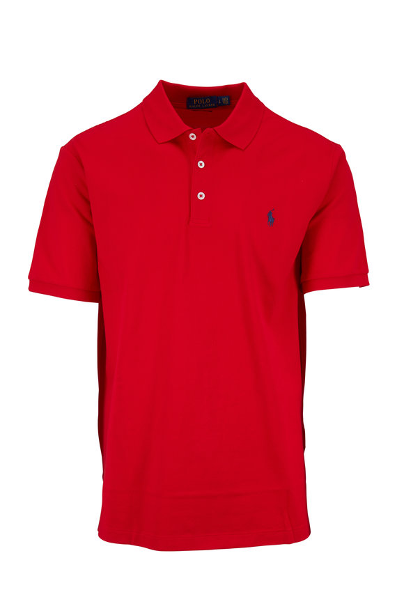 Polo Ralph Lauren Red Stretch Mesh Short Sleeve Polo