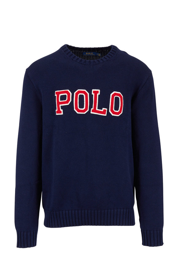 Polo Ralph Lauren Navy Cotton Logo Sweater