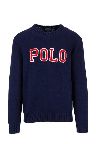 Polo Ralph Lauren - Navy Cotton Logo Sweater