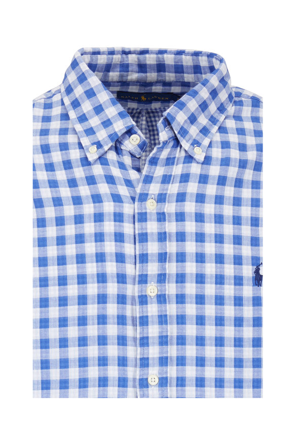 Polo Ralph Lauren Blue & White Check Sport Shirt