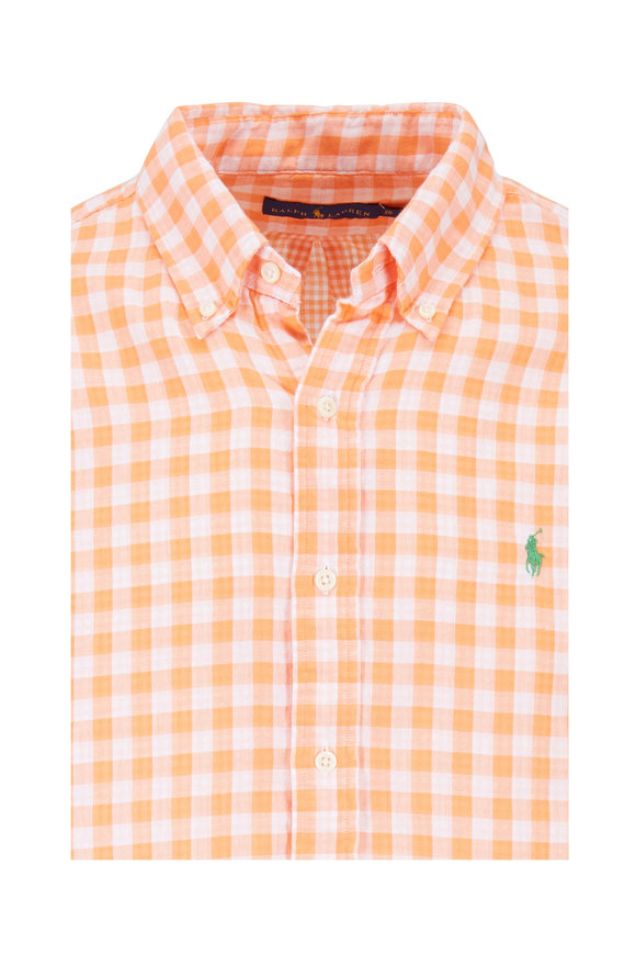 Polo Ralph Lauren Orange & White Check Sport Shirt