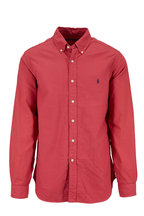 Polo Ralph Lauren - Solid Red Cotton Sport Shirt