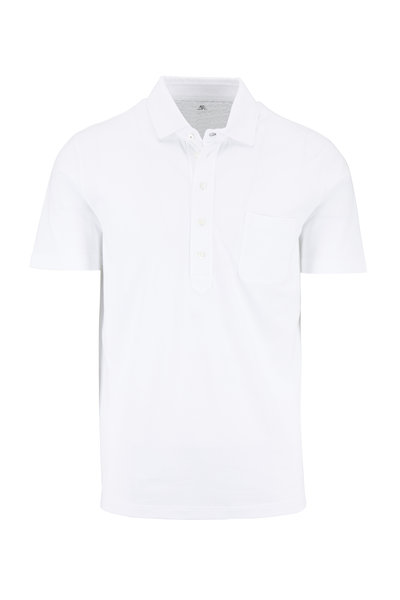Brunello Cucinelli - White Piqué Slim Fit Polo