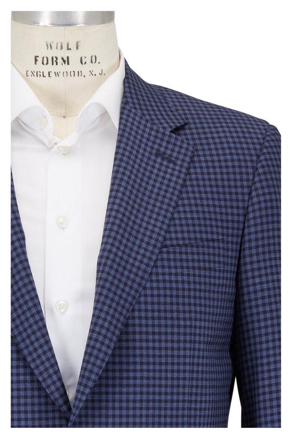 Canali Royal & Navy Check Wool Sportcoat