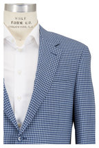 Canali - Blue & White Check Wool Sportcoat