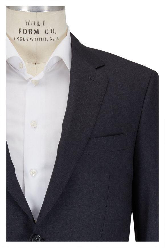 Canali Solid Charcoal Gray Wool Suit