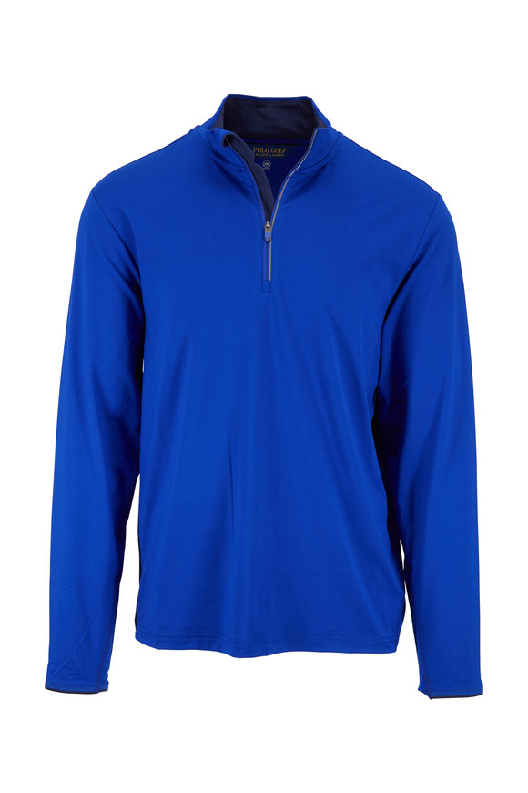 Polo Ralph Lauren Royal & Navy Performance Quarter-Zip Pullover