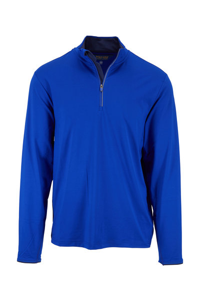 Polo Ralph Lauren - Royal & Navy Performance Quarter-Zip Pullover