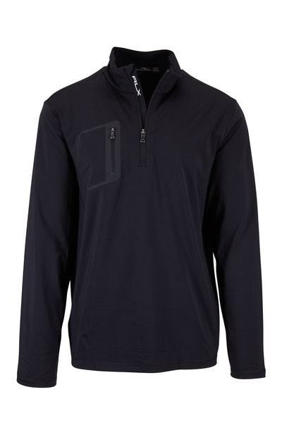 Polo Ralph Lauren - Black Jersey Performance Quarter-Zip Pullover
