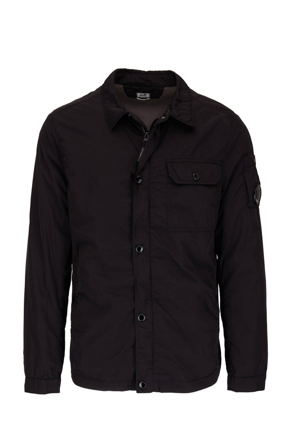 CP Company Caviar Black Nylon Overshirt