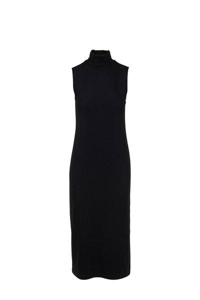 Vince - Black Turtleneck Sleeveless Dress