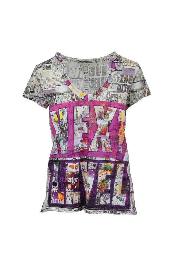 Printed Artworks Multicolor Next Level Printed V-Neck T-Shirt