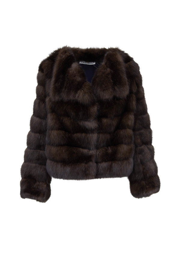 Oscar de la Renta Furs Barguzine Sable Jacket