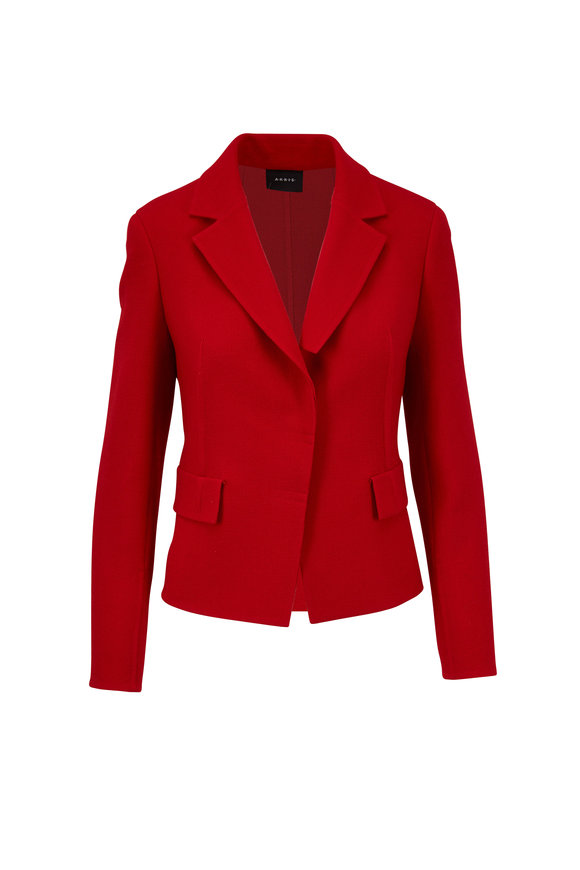 Akris Aada Carmine Double-Faced Wool Fitted Jacket
