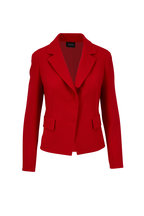 Akris - Aada Carmine Double-Faced Wool Fitted Jacket