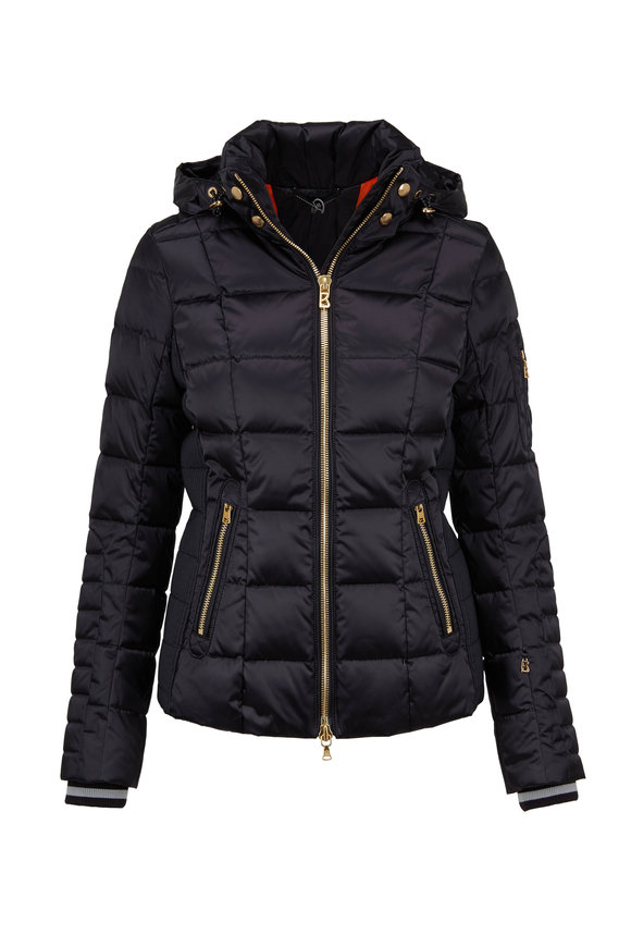 Bogner Uma Black Nylon Down Ski Jacket