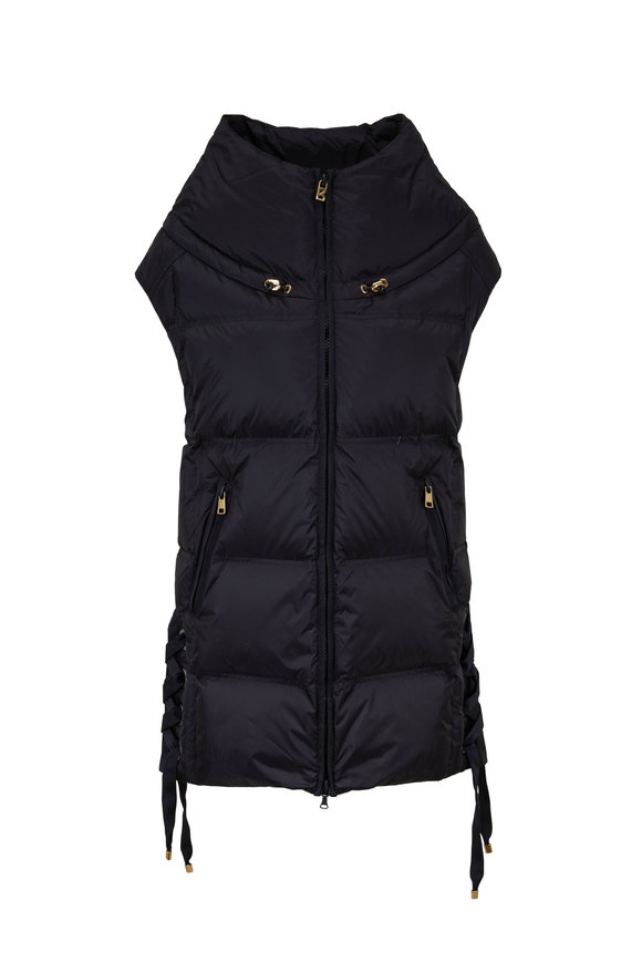 Bogner Dorea Black Side Lace-Up Vest